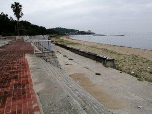 赤穂オートキャンプ場近くの海岸