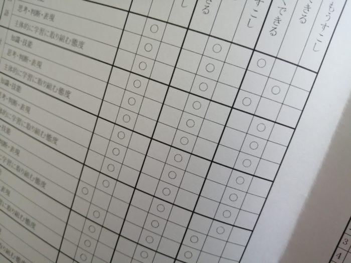 小学校の通知表(小4)